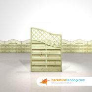 Designer Omega Wing Fence Panels 4.5ft x 3ft natural