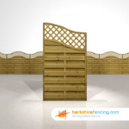 Omega Wing Fence Panels 5.5ft x 3ft brown