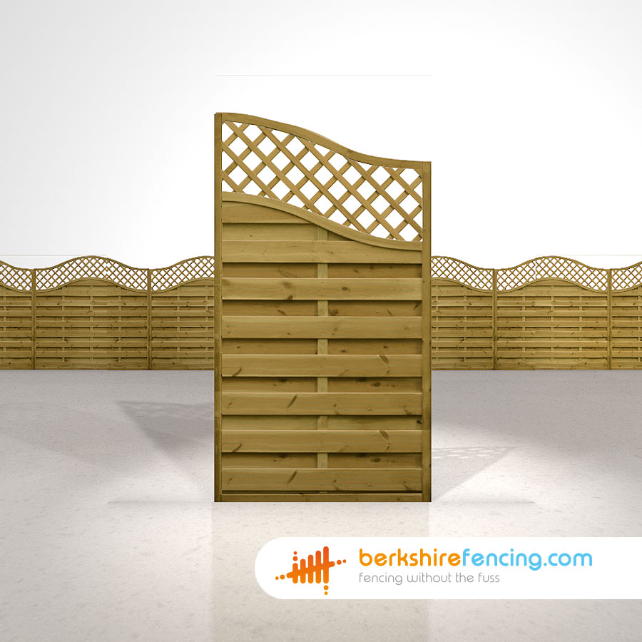 Omega Wing Fence Panels 5 5ft X 3ft Brown Berkshire Fencing