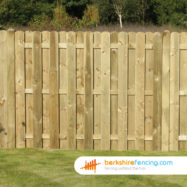 Planed and Profiled Picket Fence Panel (4) 90cm H x 180cm W brown