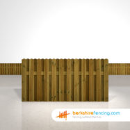 Designer Planed and Profiled Picket Fence Panels 3ft x 6ft brown
