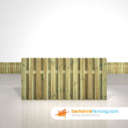 Designer Planed and Profiled Picket Fence Panels 3ft x 6ft natural