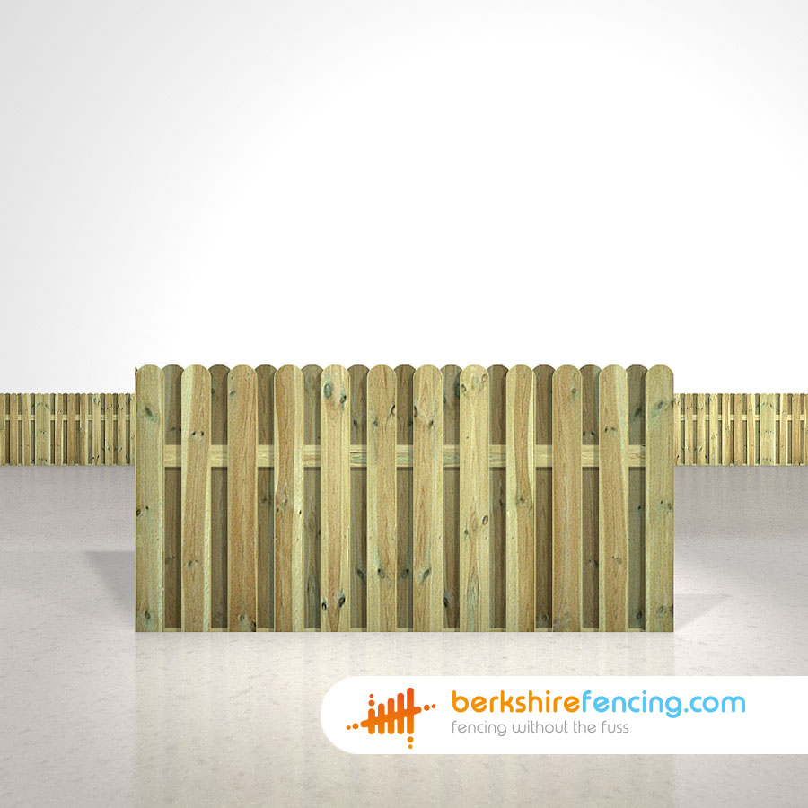 Planed and Profiled Picket Fence Panels 3ft x 6ft natural ...