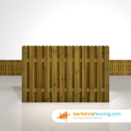 Garden Planed and Profiled Picket Fence Panels 4ft x 6ft brown