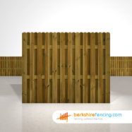 Designer Planed and Profiled Picket Fence Panels 5ft x 6ft brown