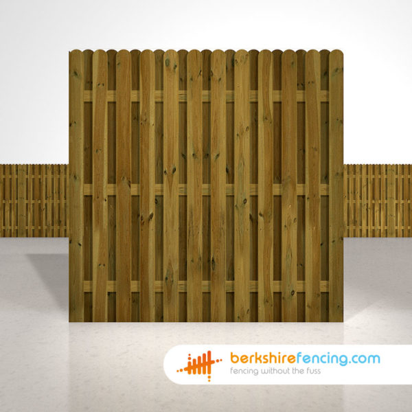 Planed and Profiled Picket Fence Panels 6ft x 6ft brown