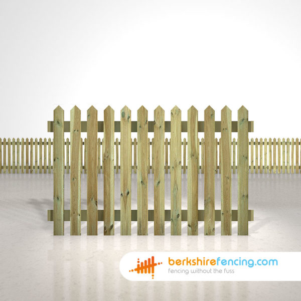 pointed picket fence panels 4ft x 6ft natural