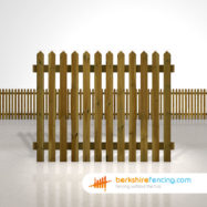 Designer pointed picket fence panels 5ft x 6ft brown