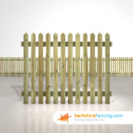 Exclusive pointed picket fence panels 5ft x 6ft natural