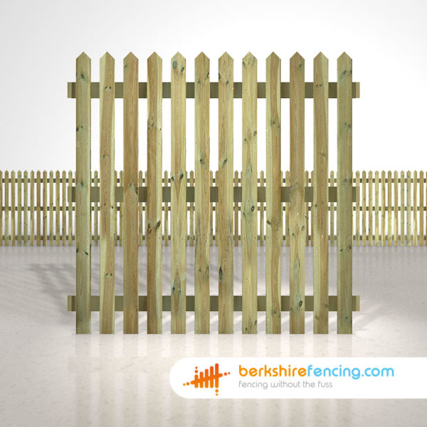 Exclusive pointed picket fence panels 6ft x 6ft natural