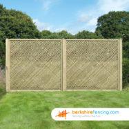 Rectangle Diamond Privacy Trellis Fence Panel (3) 30cm H x 180cm W brown