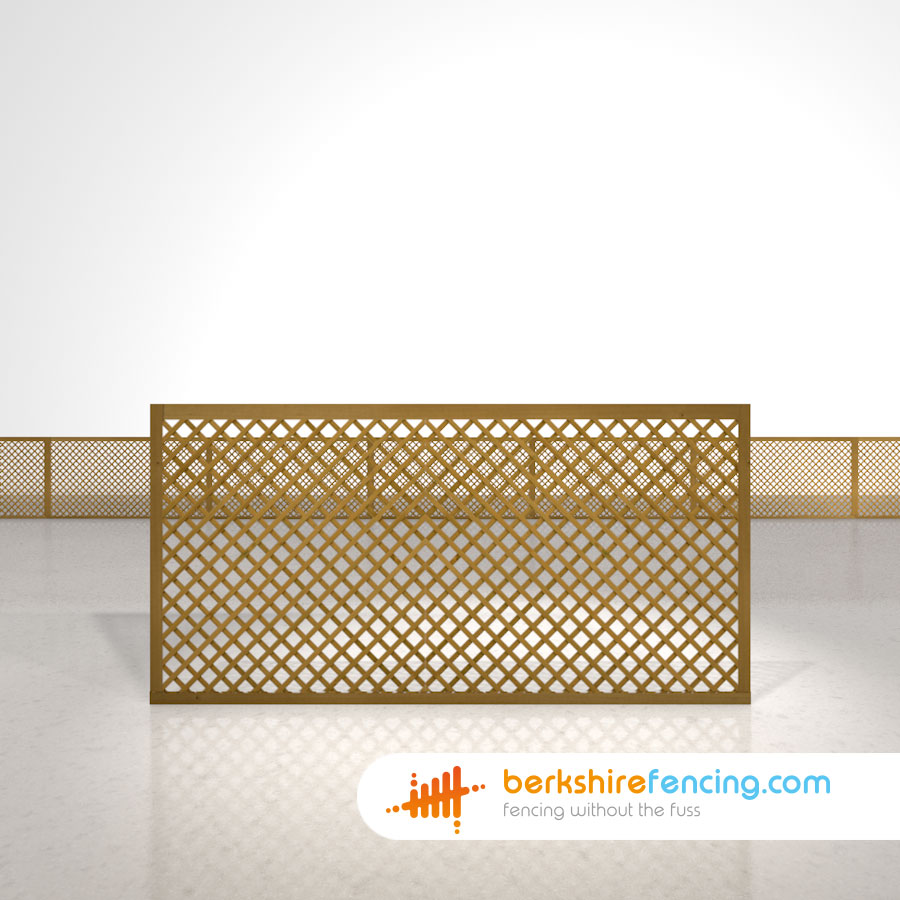 Rectangle Diamond Privacy Trellis Fence Panels 3ft X 6ft