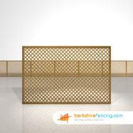 Designer Rectangle Diamond Privacy Trellis Fence Panels 4ft x 6ft brown