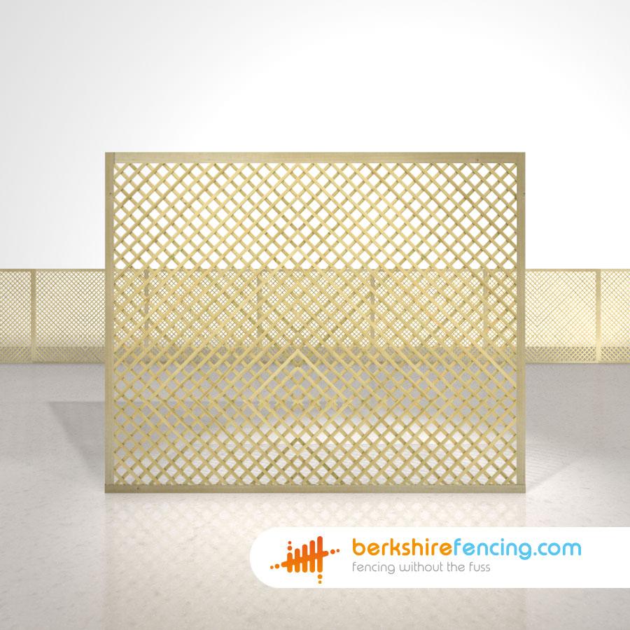 Rectangle Diamond Privacy Trellis Fence Panels 5ft x 6ft natural ...