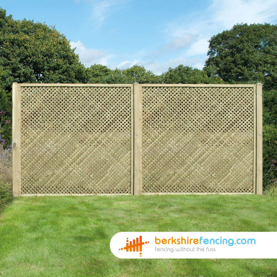 Rectangle Diamond Privacy Trellis Fence Panels 4ft X 6ft