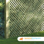 Rectangle Diamond Trellis Fence Panel (3) 30cm H x 180cm W brown