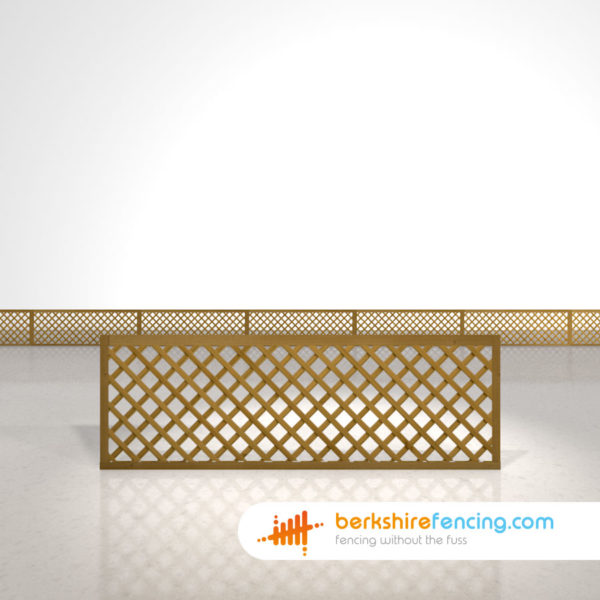 Designer Rectangle Diamond Trellis Fence Panels 2ft x 6ft brown