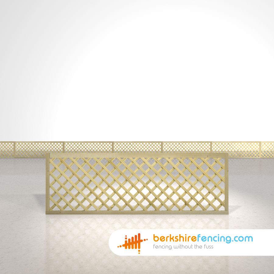 Rectangle Diamond Trellis Fence Panels 2ft X 6ft Natural