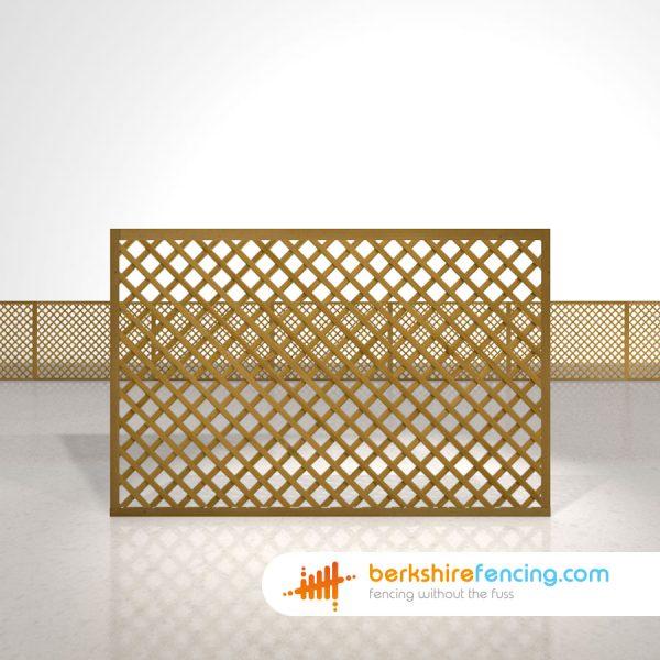 Rectangle Diamond Trellis Fence Panels 4ft x 6ft brown