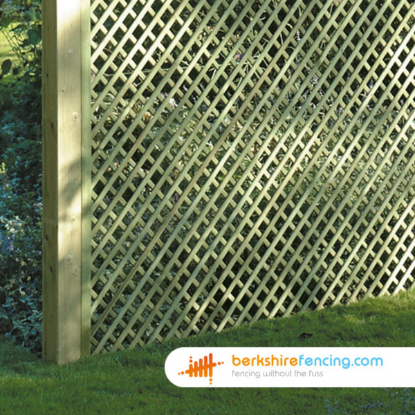 300mm H x 1800mm W Rectangle Diamond Trellis Fence Panel Constructed in UC4 treated Timber for a customer in London