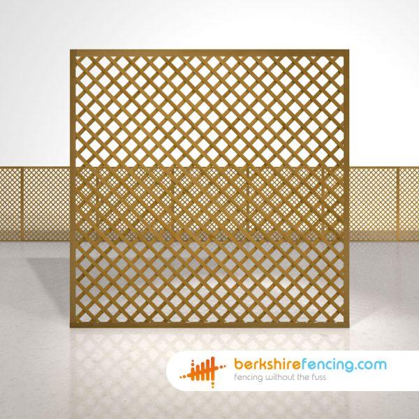 Garden Rectangle Diamond Trellis Fence Panels 6ft x 6ft brown