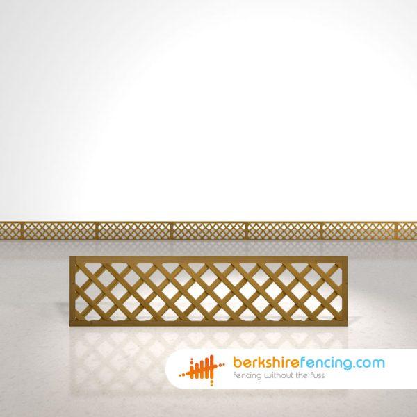 Rectangle Heavy Diamond Trellis Fence Panels 1.5ft x 6ft brown