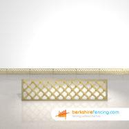 Rectangle Heavy Diamond Trellis Fence Panels 1.5ft x 6ft natural