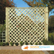 Rectangle Heavy Diamond Trellis Fence Panel (3) 30cm H x 180cm W brown