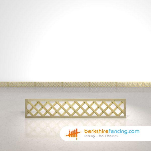 Exclusive Rectangle Heavy Diamond Trellis Fence Panels 1ft x 6ft natural