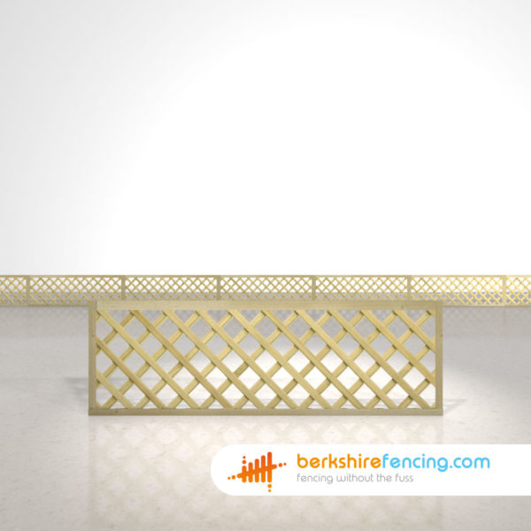 Exclusive Rectangle Heavy Diamond Trellis Fence Panels 2ft x 6ft natural