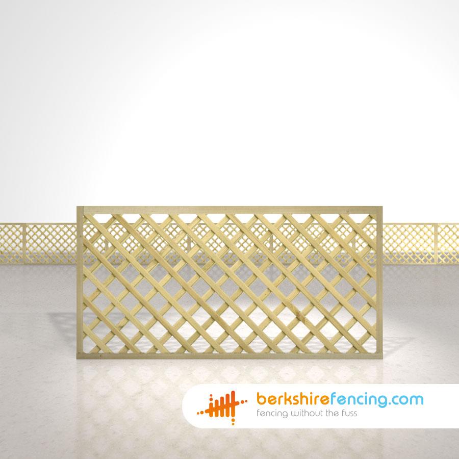 Rectangle Heavy Diamond Trellis Fence Panels 3ft X 6ft