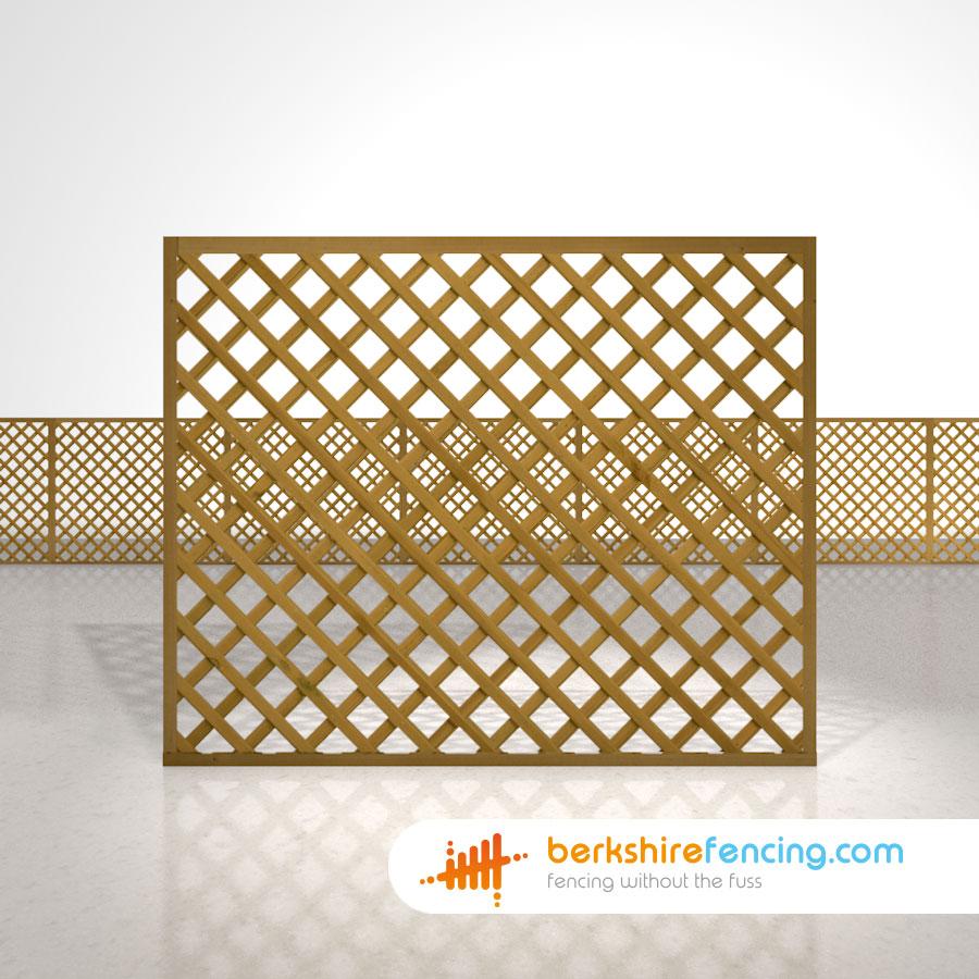 Rectangle Heavy Diamond Trellis Fence Panels 5ft x 6ft brown ...