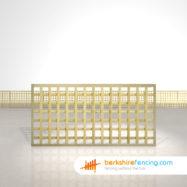 Designer Rectangle Planed Square Trellis Fence Panels 3ft x 6ft natural