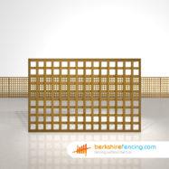 Garden Rectangle Planed Square Trellis Fence Panels 4ft x 6ft brown