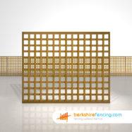 Designer Rectangle Planed Square Trellis Fence Panels 5ft x 6ft brown