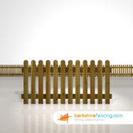 Designer rounded picket fence panels 3ft x 6ft brown