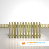 rounded picket fence panels 3ft x 6ft natural