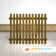 Exclusive rounded picket fence panels 5ft x 6ft brown
