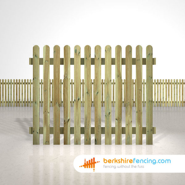 Exclusive rounded picket fence panels 5ft x 6ft natural