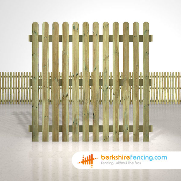 Exclusive rounded picket fence panels 6ft x 6ft natural