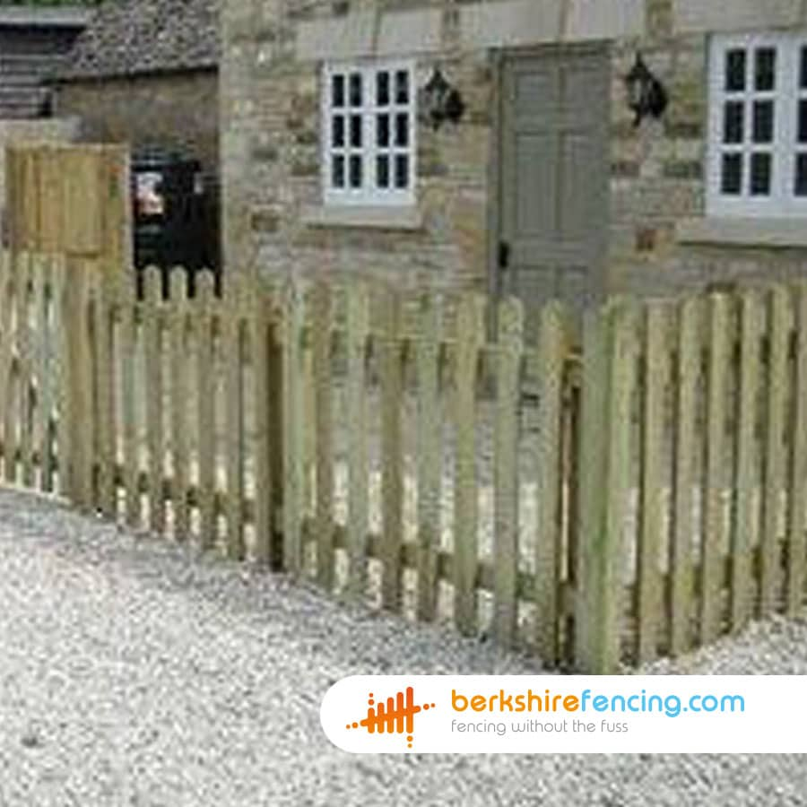 Rounded Picket Fence Panels 3ft X 6ft Natural Berkshire