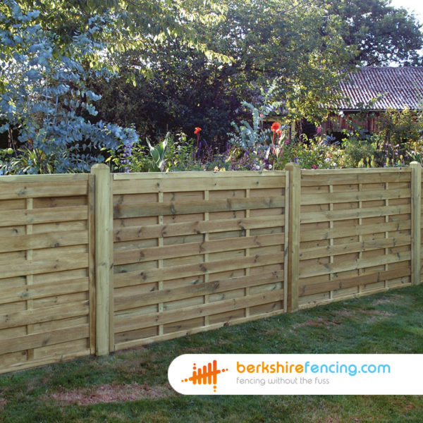 Solidly built Square Horizontal Fence Panels 3ft x 6ft