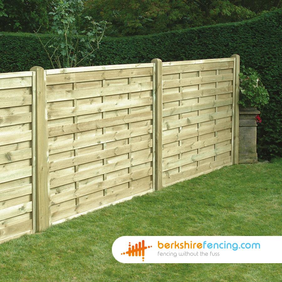Square Horizontal Fence Panels 3ft X 6ft Natural