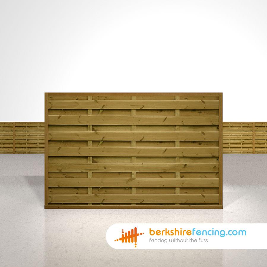 Square Horizontal Fence Panels 4ft X 6ft Brown Berkshire