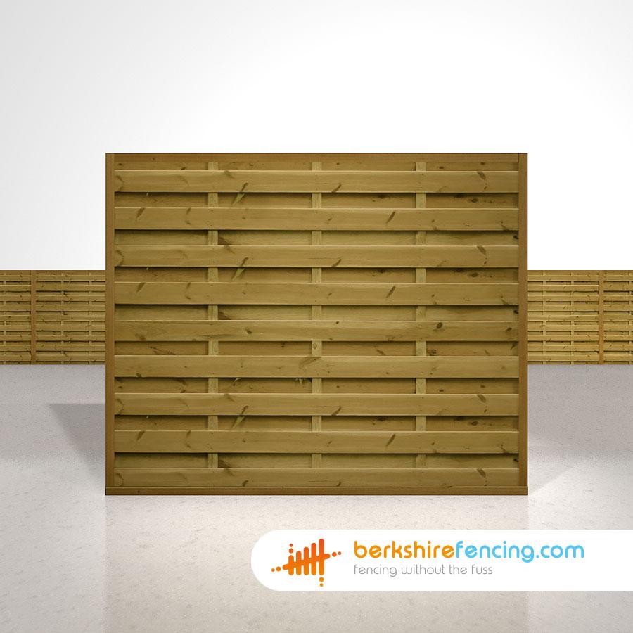 Square Horizontal Fence Panels 5ft X 6ft Brown Berkshire
