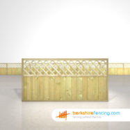 Designer Tongue and Groove Lattice Top Fence Panels 3ft x 6ft natural