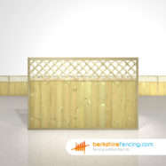 Garden Tongue and Groove Lattice Top Fence Panels 4ft x 6ft natural