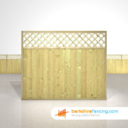 Garden Tongue and Groove Lattice Top Fence Panels 5ft x 6ft natural