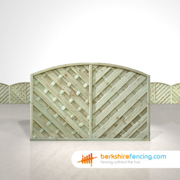 Exclusive V Arched Top Fence Panels 4ft x 6ft natural