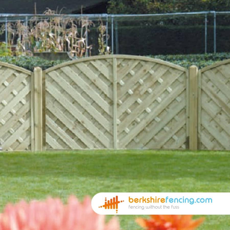 V Arched Top Fence Panels Berkshire Fencing